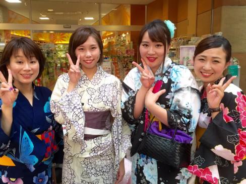 花火大会で浴衣DAY!!